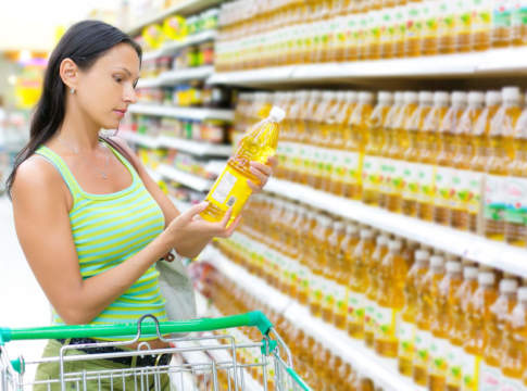 etichetta dell'olio di oliva