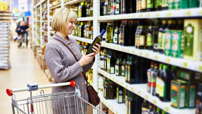claim salutistici di olio evoo in etichetta