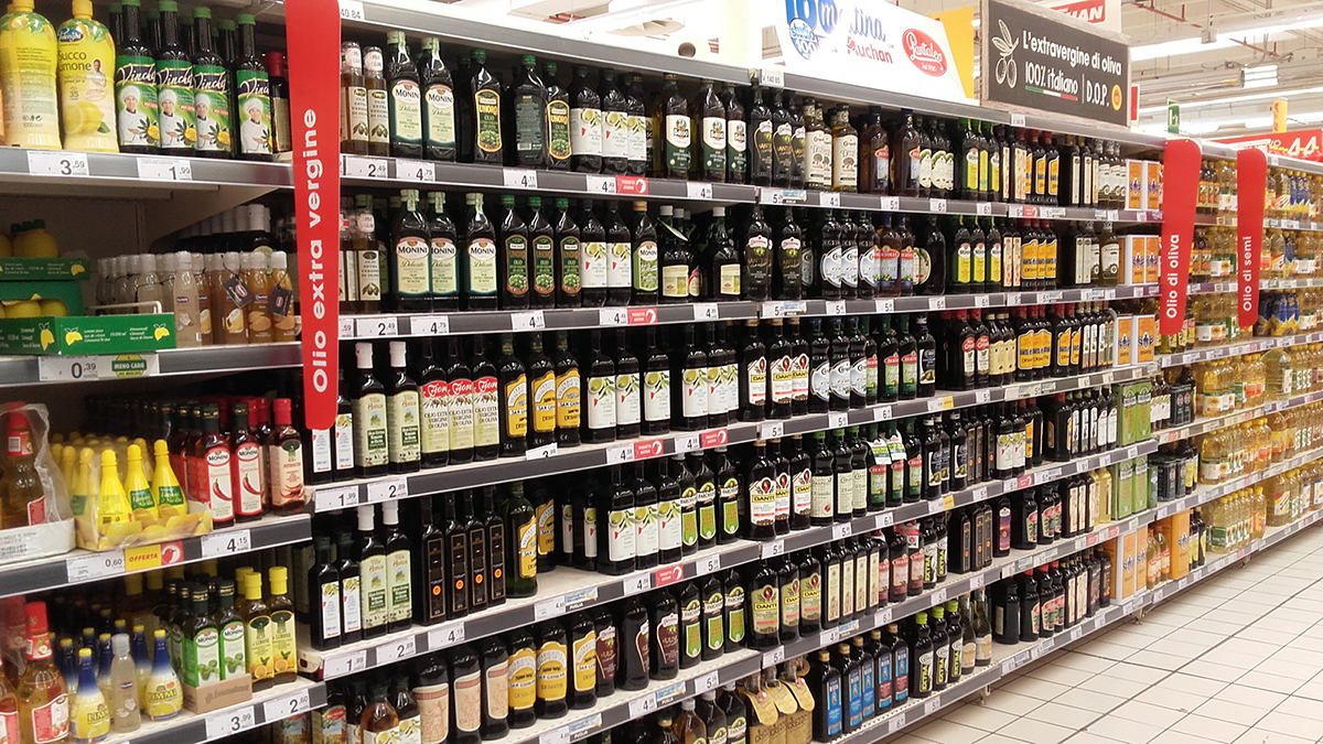 claim nelle etichette di olio